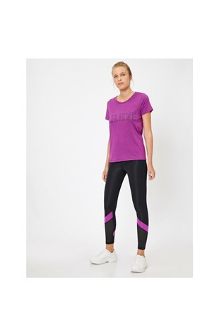 Ebru Şallı Loves Koton Sport Leggings Black