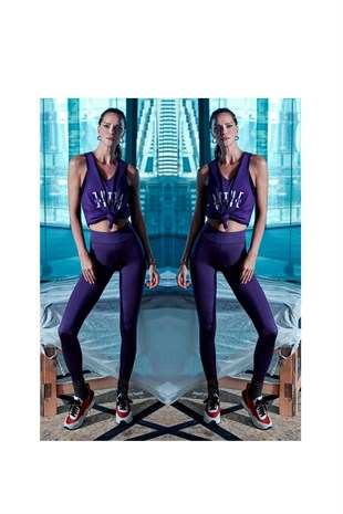 Ebru Şallı Loves Koton Sport Tank Top Purple
