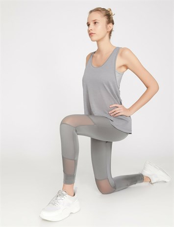 Ebru Şallı Loves Koton Sport Leggings Gray