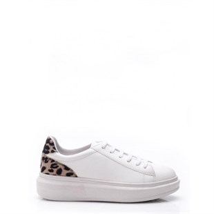 Ebru Şallı Sneaker White Patterned